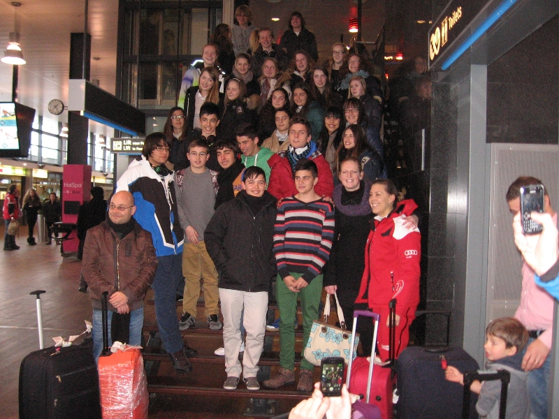 Llegada a Holanda de los alumnos de bilingue