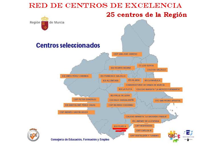 mapa red centros de excelencia