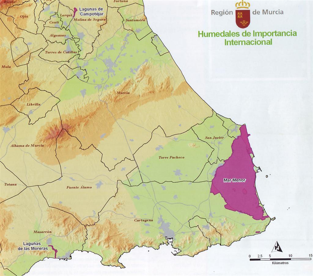 Humedales de la región de Murcia