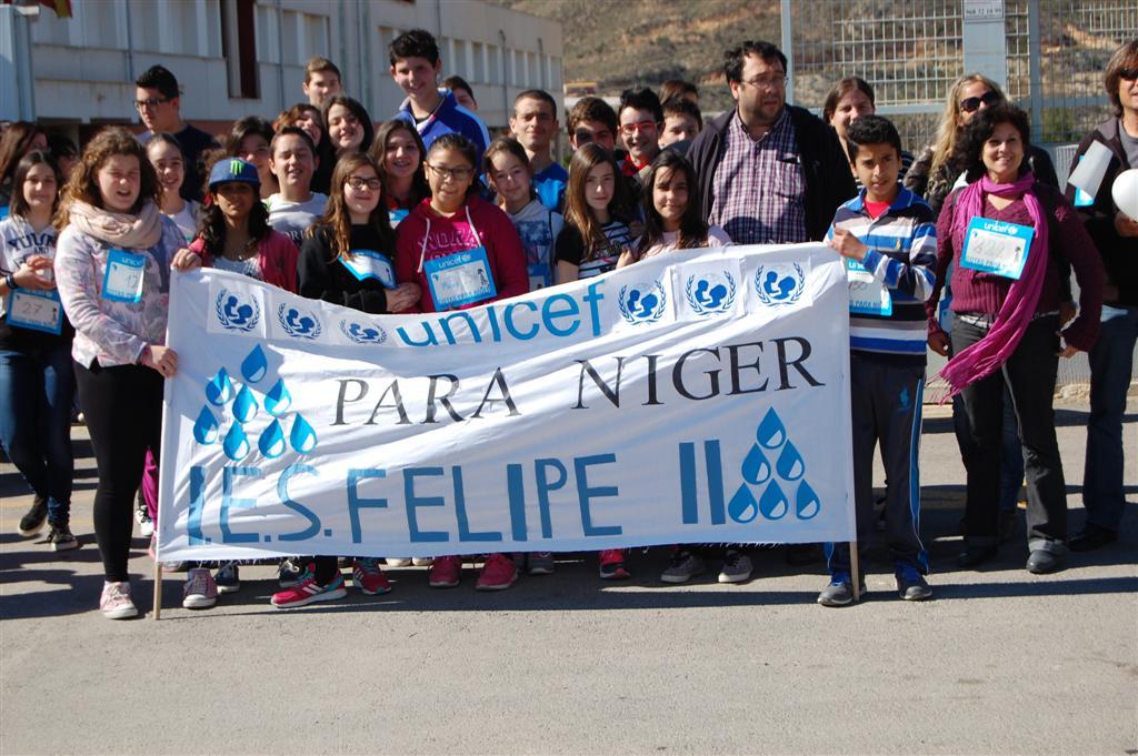 IES Felipe II marcha Gotas por Níger