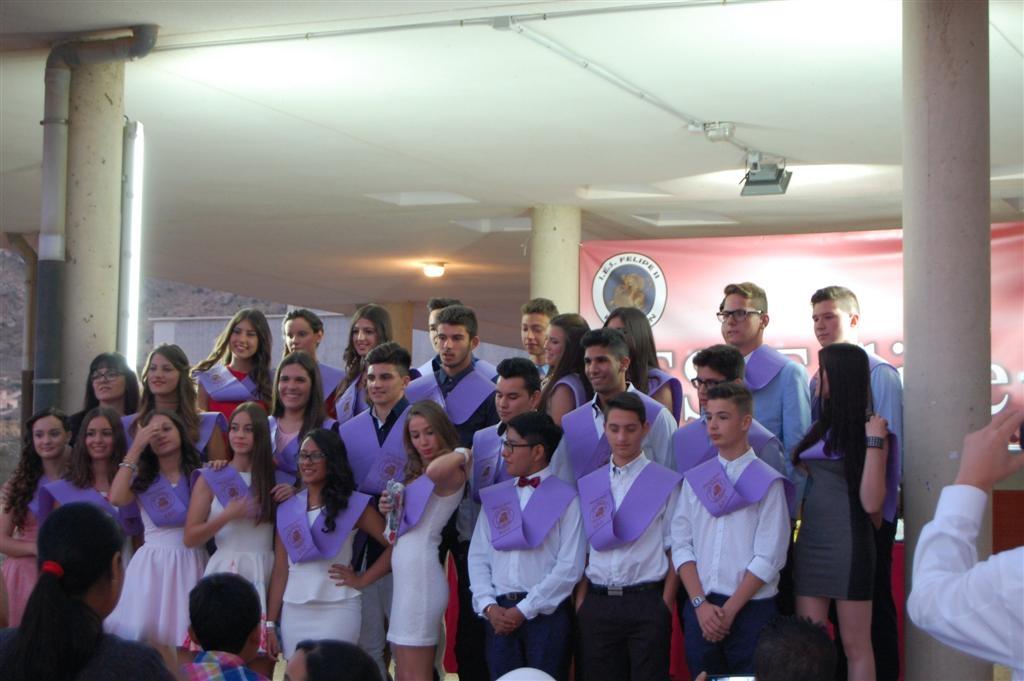Graduación 2015 del IES Felipe II