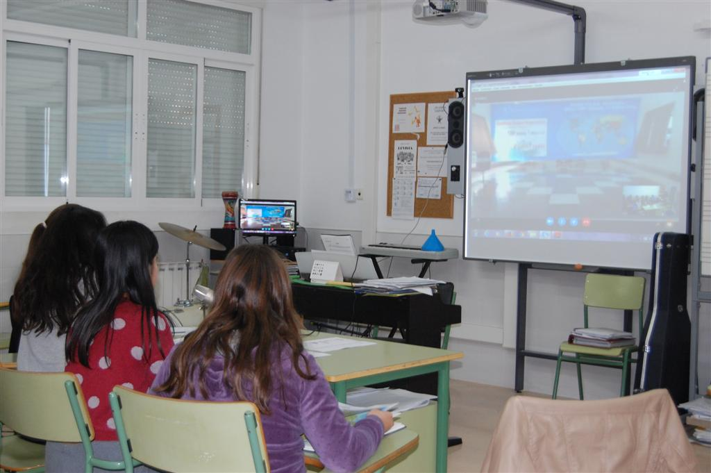 Videoconferencia con Redfield School, India