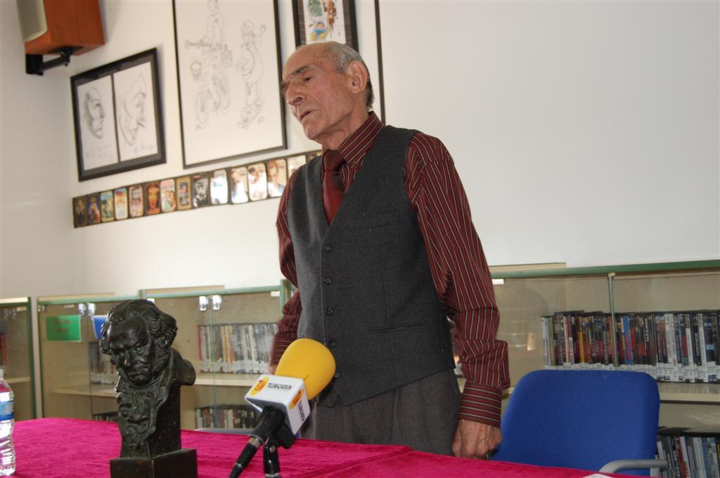 Visita del premio Goya, Saturnino García